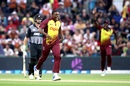 Sheldon Cottrell validated his T20I return with an early wicket, New Zealand v West Indies, 2nd T20I, Mount Maunganui, January 1, 2018