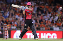 Jordan Silk shapes to pull, Sydney Sixers v Perth Scorchers, BBL 2017-18, Perth, January 1, 2018