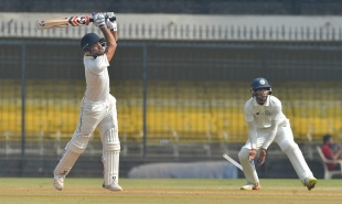 Dhruv Shorey hits over the top