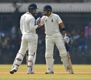 Dhruv Shorey and Nitish Rana get together, Delhi v Vidarbha, Ranji Trophy final, Indore, 4th day, January 1, 2018