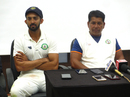 Vidarbha captain Faiz Fazal and coach Chandrakant Pandit address the media after the victory, Delhi v Vidarbha, Ranji Trophy final, Indore, 4th day, January 1, 2018
