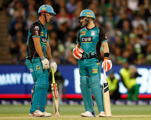 Chris Lynn and Brendon McCullum put on a century stand