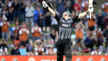 Colin Munro soaks in his third T20I hundred
