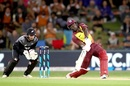 Andre Fletcher looks to smack one down the ground, New Zealand v West Indies, 3rd T20I, Mount Maunganui