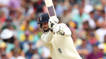 James Vince plays one of his trademark drives