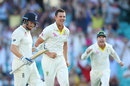 Josh Hazlewood removed Jonny Bairstow with the final ball of the day, Australia v England, 5th Ashes Test, Sydney, 1st day, January 4, 2018