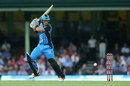 Colin Ingram slashes one through the off side, Hobart Hurricanes v Adelaide Strikers, Big Bash League 2017-18, Hobart, January 4, 2018