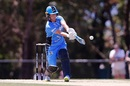 Sophie Devine swings it towards the leg side, Melbourne Stars v Adelaide Strikers, WBBL 2017-18, Melbourne, January 5, 2017