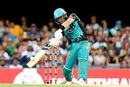 Brendon McCullum creams the ball towards the off side, Brisbane Heat v Perth Scorchers, BBL 2017-18, Brisbane, January 5, 2017