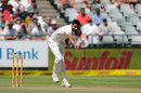 Bhuvneshwar Kumar offers an upright seam, South Africa v India, 1st Test, Cape Town, 1st day, January 5, 2017