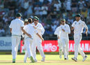 Dale Steyn celebrates a wicket soon upon his Test comeback, South Africa v India, 1st Test, Cape Town, 1st day, January 5, 2018