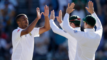 Vernon Philander troubled the India openers early and took out M Vijay in his third over