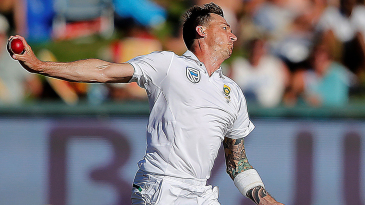 Dale Steyn gets into his delivery stride