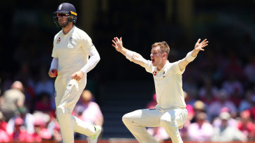 Mason Crane roars the appeal that became void by the no-ball decision