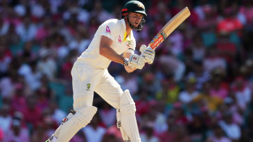 Shaun Marsh finished the day unbeaten on 98