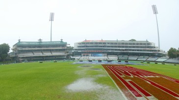 The Newlands outfield soaked up plenty of water