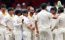 Nathan Lyon claimed Moeen Ali's wicket for the seventh time in the series, Australia v England, 5th Test, Sydney, 5th day, January 8, 2018