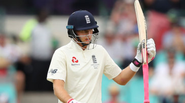 Joe Root was deemed fit enough to bat and raised his fifty
