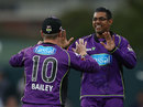 Clive Rose celebrates a wicket, Hobart Hurricanes v Sydney Sixers, BBL 2017-18, January 8, 2018