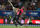 Daniel Hughes launches one, Hobart Hurricanes v Sydney Sixers, BBL 2017-18, January 8, 2018
