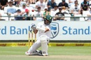 Keshav Maharaj was tested by bouncers, South Africa v India, 1st Test, Cape Town, 4th day, January 8, 2018