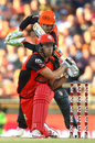 Cameron White bludgeons one through the on side, Melbourne Renegades v Perth Scorchers, BBL 2017-18, Perth, January 8, 2018