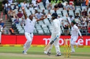 A decision went against Vernon Philander when M Vijay's lbw was overturned by DRS, South Africa v India, 1st Test, Cape Town, 4th day, January 8, 2018