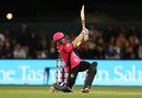 Sam Billings goes for the big one, Hobart Hurricanes v Sydney Sixers, BBL 2017-18, January 8, 2018