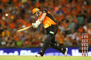 Ashton Turner bunts one away en route to his rapid fifty, Melbourne Renegades v Perth Scorchers, BBL 2017-18, Perth, January 8, 2018