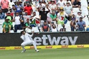Keshav Maharaj fluffed at catch at fine leg, South Africa v India, 1st Test, Cape Town, 4th day, January 8, 2018