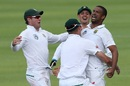 Vernon Philander is pumped after wrapping up South Africa's win, South Africa v India, 1st Test, Cape Town, 4th day, January 8, 2018