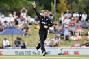 Lockie Ferguson celebrates a wicket, New Zealand v Pakistan, 2nd ODI, Nelson, January 9, 2018