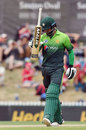 Mohammad Hafeez doesn't hide his disappointment after being dismissed, New Zealand v Pakistan, 2nd ODI, Nelson, January 9, 2018