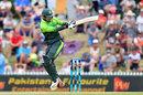 Shadab Khan plays a pull shot, New Zealand v Pakistan, 2nd ODI, Nelson, January 9, 2018