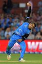 Rashid Khan delivers the ball, Adelaide Strikers v Melbourne Stars, BBL 2017-18, Adelaide, January 9, 2018