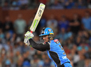 Alex Carey flays one through the off side en route to his half-century, Adelaide Strikers v Melbourne Stars, BBL 2017-18, Adelaide, January 9, 2018