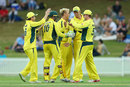 Daniel Fallins celebrates a breakthrough, Cricket Australia XI v England, Tour match, Sydney, January 11, 2017
