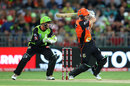 Cameron Bancroft plays one onto the leg side, Sydney Thunder v Perth Scorchers, BBL 2017-18, Sydney, January 11, 2018