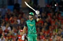 Kevin Pietersen soaks in the cheers after his half-century, Melbourne Renegades v Melbourne Stars, Big Bash League 2017-18, Melbourne, January 12, 2018