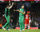 Jackson Coleman screams in delight after taking a wicket, Melbourne Renegades v Melbourne Stars, Big Bash League 2017-18, Melbourne, January 12, 2018
