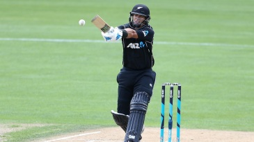 Ross Taylor rolls his wrists over a pull