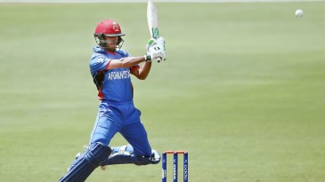 Ikram Ali Khil contributed a patient 46 to Afghanistan's win