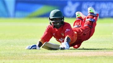 Wesley Madhevere took three wickets and struck an unbeaten half-century