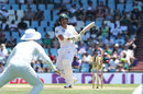 Dean Elgar plays one behind square, South Africa v India, 2nd Test, day 1, Centurion, January 13, 2018