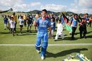 Qais Ahmad savours Afghanistan's win in their opening game, Afghanistan v Pakistan, Under-19 World Cup, Whangarei, January 13, 2018