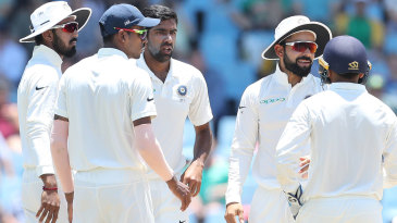 India wasted a review for caught behind against Dean Elgar