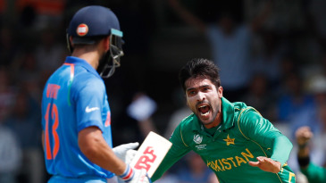 Mohammad Amir tilted the Champions Trophy final in Pakistan's favour after he dismissed Virat Kohli in the third over of the innings