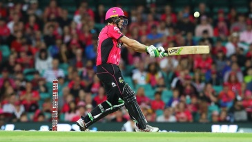Daniel Hughes' unbeaten 66 took Sixers to their first BBL win of the season