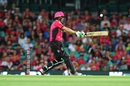 Daniel Hughes' unbeaten 66 took Sixers to their first BBL win of the season, Sydney Thunder v Sydney Sixers, BBL 2017-18, Sydney, January 13, 2018