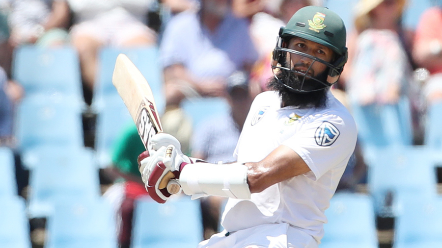 Hashim Amla sways out of the line of a bouncer